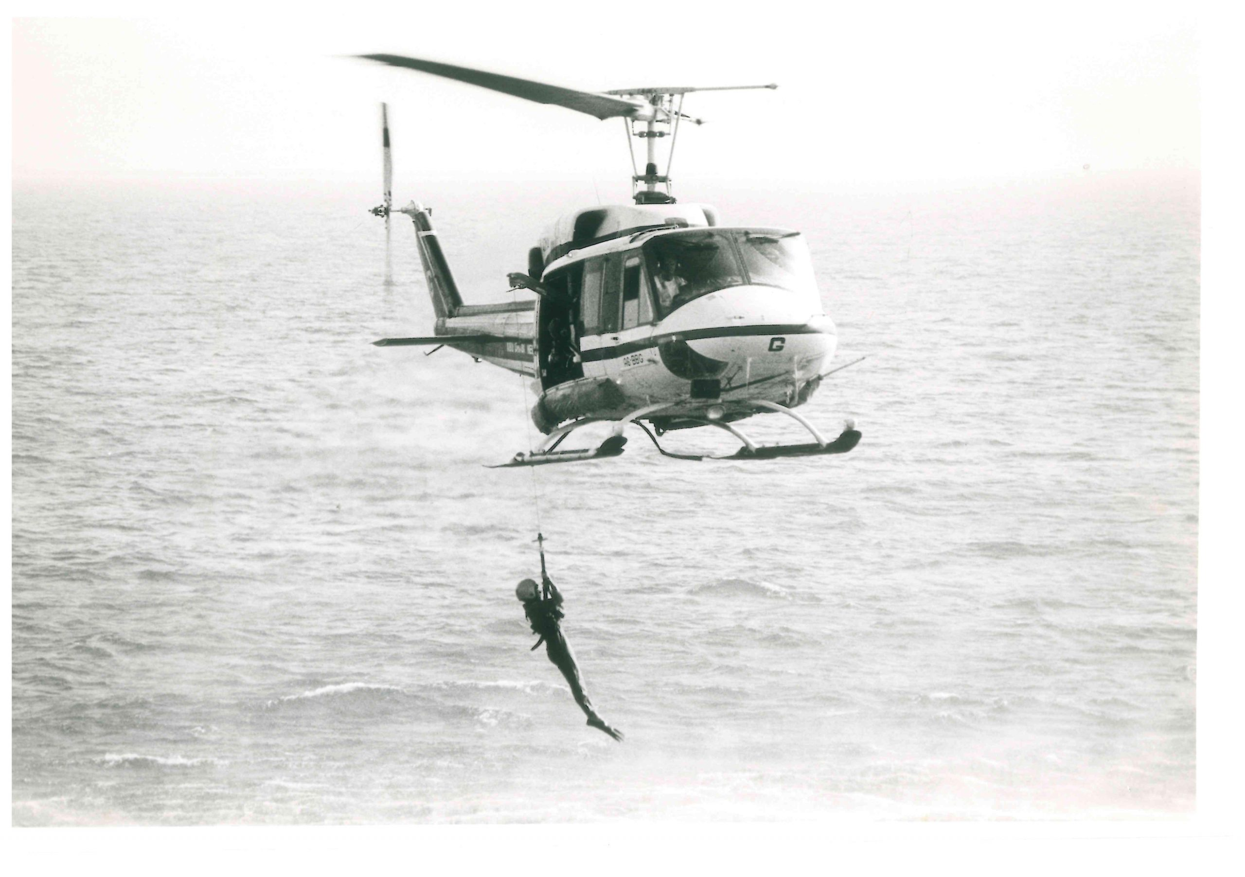 Bell 212 during search and rescue training